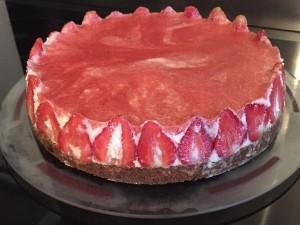 Cheescake façon fraisier