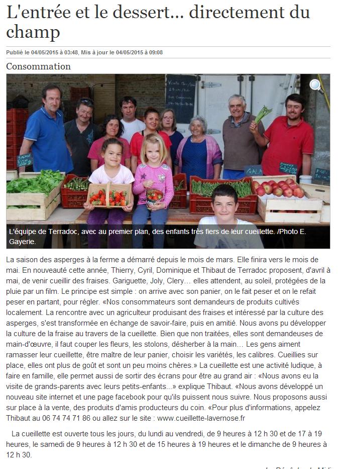 Article-la-Dépêche-Cueillette-04-05-15